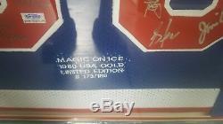 1980: L'équipe D'éditions Limitées De Miracle On Ice A Signé Avec Herb Brooks.