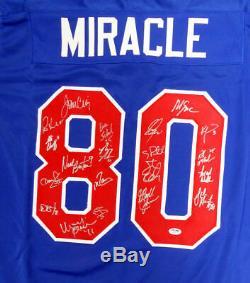 1980 Miracle On Ice Autographié Avec 20 Encadré Signée Sigs Psa / Adn Itp 159397