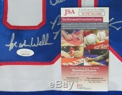 1980 Miracle Sur Olympique De Hockey Sur Glace De L'équipe USA Jersey Signé Par L'équipe Jsa 149123
