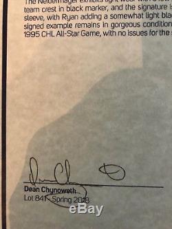 1993 Jeu De Rob Niedermayer Porté Signé Ohl / Chl As Jersey Floride Panthers / Loa