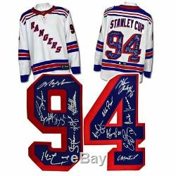 1994 New York Rangers 15 Joueur Équipe Signé Coupe Stanley Hockey Jersey # / 94