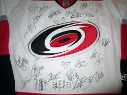 2013 Hurricanes Équipe Signé Rbk Jersey Withcoa Staal Skinner Semin Ward +