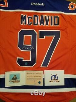 2016-17 Connor Mcdavid Edmonton Oilers Chandail Autographié Avec Coa