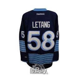 3e Maillot De Hockey Bleu Premier, Autographié Par Kris Letang, Autographié Par Jsa