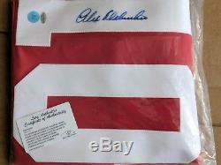 Alex Delvecchio Maillot Autographié Detroit Red Wings Feuille Certifié Coa Auto