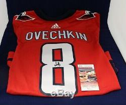 Alex Ovechkin Des Capitals De Washington Autographié Signé Adidas Jersey Authentique Jsa