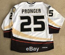 Anaheim Ducks Chris Pronger Team Publié Jersey 10 Ans Coupe Stanley Taille 54