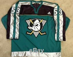 Anaheim Ducks Puissant Maxime Comtois Signé Publié Adidas Warm Up Jersey Auto