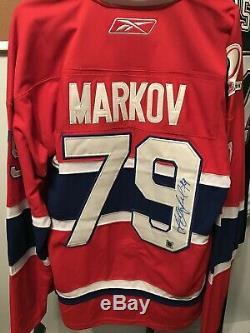 Andrei Markov Maillot Maison Signé Des Canadiens De Montréal (coa)