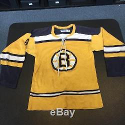 Années 1960, Maillot Original Des Bruins De Boston, Gerry Cosby, Signé Par Bobby Orr Avec Jsa Coa