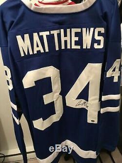 Auston Matthews A Signé Le Maillot De Hockey (coa) De Toronto Maple Leafs De Jersey