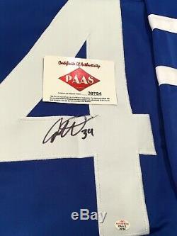 Auston Matthews Autographié Signé Jersey Coa Maple Leafs De Toronto