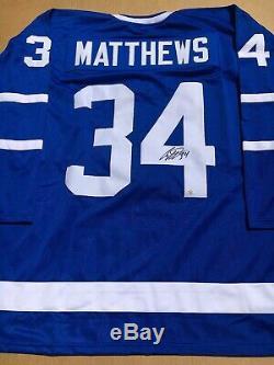 Auston Matthews Maple Leafs De Toronto Chandail Autographié Coa