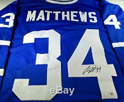 Auston Matthews / Maple Leafs De Toronto / Maillot De Hockey Sur Mesure / Signature À La Main