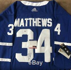 Auston Matthews, Signé Par Les Maple Leafs De Toronto, Autographié Par Psa Coa De La LNH