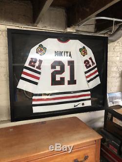 Authentique Maillot De Hockey Nike Blanc Authentique Des Blackhawks De Chicago Stan Mikita De Chicago