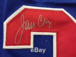 Autographe / Signé Jim Craig Équipe Bleue USA Miracle 1980 Maillot De Hockey Jsa Coa
