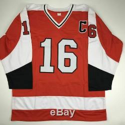 Autographié / Signé Bobby Bob Clarke Maillot De Hockey Orange Philadelphia Jsa Coa