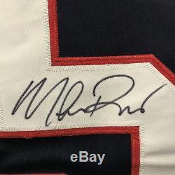 Autographiée / Signée Mike Richter Équipe États-unis États-unis Blue Jersey Jsa Coa Auto