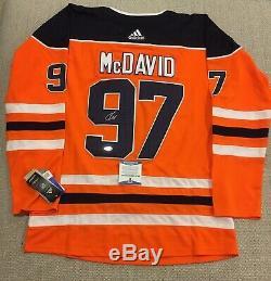 Beckett Coa Connor Mcdavid Signé Autographié Jersey # Edmonton Oilers 97 Gretzky