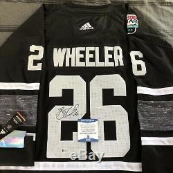 Blake Wheeler Signé Jersey 2019 NHL All Star Jets Jeu Winnipeg + Beckett Coa