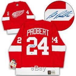 Bob Probert Red Wings De Detroit Autographié Fanatics Vintage Hockey Jersey