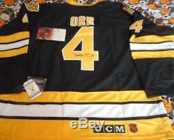 Bobby Orr Bruins - Chandail De Hockey De La LNH Signé, Autographié Avec Coa