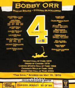 Bobby Orr Jersey Carrière Autographié Ltd Ed 144 Boston Bruins