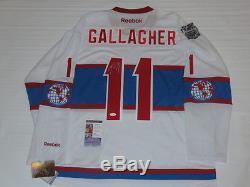 Brendan Gallagher A Signé Le Maillot Classique D'hiver Des Canadiens De Montréal 2016 Jsa Coa