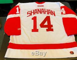 Brendan Shanahan, Authentique Modèle De Jeu, Modèle Ccm, Chandail Des Red Wings De Detroit, Jsa