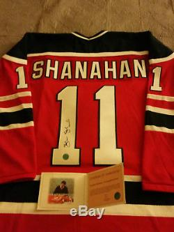 Brendan Shanahan Chandail De Hockey Autographié Des Devils Du New Jersey, Coa / Aj Sportsworld