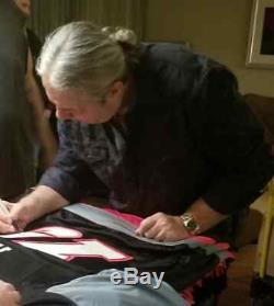 Bret Hitman Hart Hitmen De Calgary Autographié Signe Chl Hockey Jersey Psa / Adn