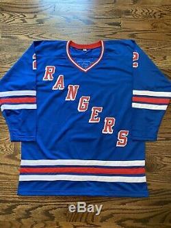 Brian Leetch Rangers De New York # 2 Signé Autographié Jersey- Paas Coa