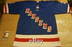 Brian Leetch, Réplique Du Maillot Jsa Signé Des Rangers De New York, Coa