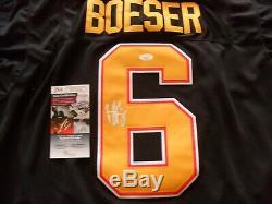Brock Boeser Autographié 50e Anniversaire Signé Canucks De Vancouver Jersey Jsa Coa