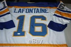 Buffalo Sabres Pat Lafontaine Custom Jersey Jsa Cert