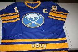 Buffalo Sabres Pat Lafontaine Sewn Cousu Autographié Personnalisée Bleu Jersey Jsa