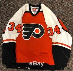 Centre Ice Authentique John Vanbiesbrouck Autographié Flyers De Philadelphie Jersey