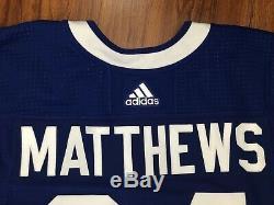 Chandail Auston Matthews Adidas MIC Des Maple Leafs De Toronto, Taille 56