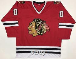 Chevy Chase Griswold Maillot Autocollant Blackhawks Avec Beckett Coa # I49046