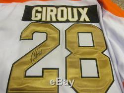 Claude Giroux Les Flyers De Philadelphie Signent Un Certificat D'authenticité Pour Le 50e Anniversaire