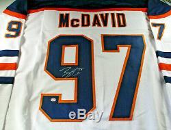 Connor Mcdavid / Autographié Edmonton Oilers Hockey Jersey Blanc Personnalisé / Coa