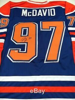 Connor Mcdavid Autographié Signé Jersey Coa Oilers D'edmonton