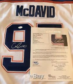 Connor Mcdavid Edmonton Oilers Autographié Signé Taille Jersey L Jsa Loa