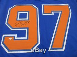 Connor Mcdavid Edmonton Oilers - Jersey De Hockey Personnalisé Autographi Avec Aco