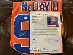 Connor Mcdavid Jersey Oilers Autographié Par Oilers D'edmonton Taille L Jsa Loa