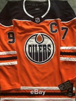 Connor Mcdavid Maillots Des Capitaines Orange Oilers (coa) Signés