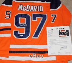 Connor Mcdavid Signé Edmonton # 97 Jersey / NHL Oilers Star + Jsa Coa Z94406
