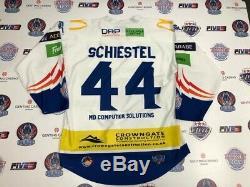 Coventry Blaze 2019-2020 # 44 Drew Schiestel Portés Hockey Sur Glace Jersey 3xl