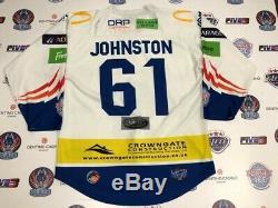 Coventry Blaze 2019-2020 # 61 Andrew Johnston Portés Hockey Sur Glace Jersey 3xl